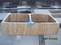 Lavabo de colada de mármol del granito para el cuarto de baño o cocina o cortijo