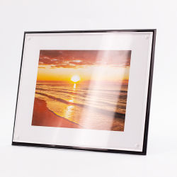 إطار صور صورة Acrylic ذات سرير طافية شفاف مع كتلة مغناطيسية لحفلات الزفاف