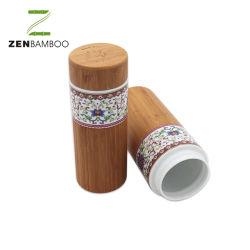 Empfindliche Porzellan-Wasser-Flasche mit Bambusaußengehäuse