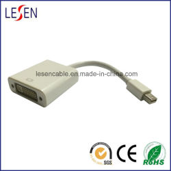 Câble adaptateur displayport, port Mini Displayport vers DVI femelle mâle, blanc