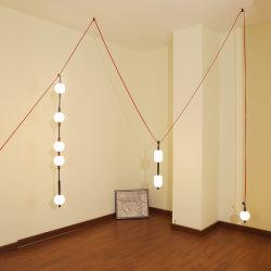 مصابيح LED داخلية مصممة بستارة أكريليك زجاجية مرنة من 3000 كيلو/6000 كيلو ثريا الديكور بندول السقف ضوء مصباح جنزير موضعي