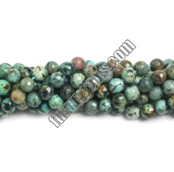 自然なアフリカのトルコ石の平野の円形のビードの宝石用原石は6mm 4mmに8mm 10mm 12mm玉を付ける