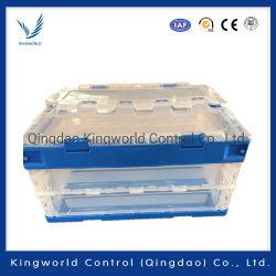 中国の産業プラスチック倒れる正方形の収納箱の適用範囲が広い折る木枠