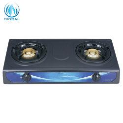 エナメル鍋サポート(DS-GSN201)が付いているCKDの鋳鉄2バーナーのガスこんろ
