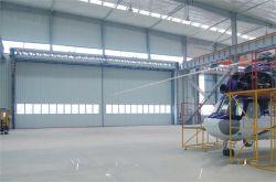 Industria Grande dimensione motorizzata esterno automatico colore acciaio alluminio PU Sandwich Garage Aircraft Airport Helicopter scorrevole Hangar porta