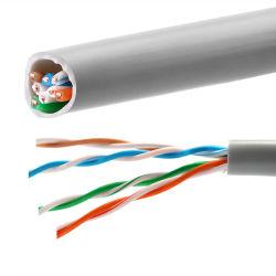 Câble réseau UTP Cat 5e 4p pour l'ordinateur et connexion du câble de communication de données de catégorie 5e