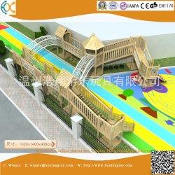 El preescolar Aventura al Aire Libre Parque Infantil de Madera
