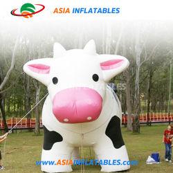 최신 판매 거대한 팽창식 암소 동물 모형