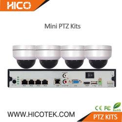 5 MP de 4 Canais Hicotek H. 265 Poe PTZ IP Mini Dome IV exterior câmara CCTV 16CH Kits de bricolage NVR Estendida