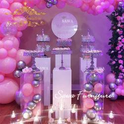 カスタム販売のための結婚式によって使用される明確なアクリルのケーキの陳列台