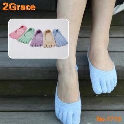 Socken-Baumwolle der Frauen Sports fünf Finger-Socken-Zehe-Knöchel-Socken