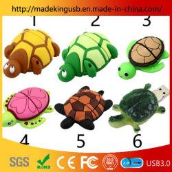 Os fabricantes de moldes de PVC grossista pequenos desenhos animados de tartaruga Tartaruga chave USB/Unidade Flash USB