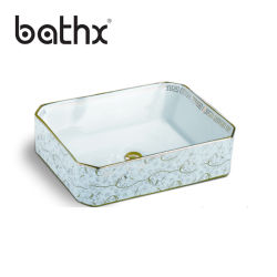 熱い販売の浴室の陶磁器の洗面器の床の永続的な軸受けの洗面器
