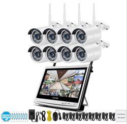 8 cámaras inalámbricas NVR LCD Sistema de vigilancia de vídeo