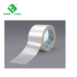Adhésif solide pour le regroupement de bandes de filament en fibre de verre et d'emballage