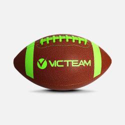 Cuero PU Fútbol Americano el Rugby Ball para la formación