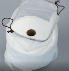 Seco Facial orgánico toallitas desechables rollo, fácil de llevar toallitas secas