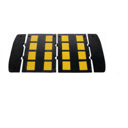 Velocidade de borracha pára-choques com listas reflectoras de alta qualidade