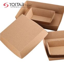 Emballage en carton ondulé marron écologique et jetable personnalisé pour Service de nourriture