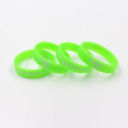 Barato bracelete de Silicone Personalizado popular banda de punho de borracha