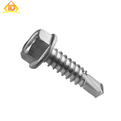 M4*50 hexagonales de acero inoxidable de perforación tornillos cabeza de la oblea