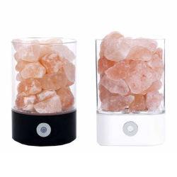 Mudar de cor esculpidas USB Rocha Himalaia Lâmpada de sal