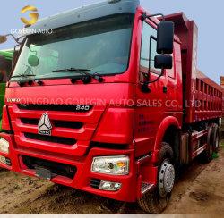 양호한 상태 371HP를 가진 사용된 HOWO 덤프 트럭 10 바퀴