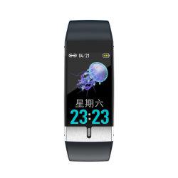 Écran tactile couleur 1.08 Watch étanche IP68 E80 de produits de santé Smartwatch NFC pour les personnes âgées