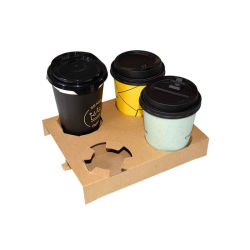 Einweg-Corrugate 1/2/4 Kraftpapier Kaffee oder Wasser trinken Tasse Halter
