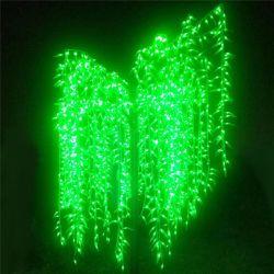 Venda quentes piscina IP65 LED decoração de paisagem do cânhamo Luz Alta Willow Tree