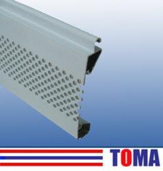 Handelseinlagige Aluminiumlatte der rollen-Tür-/77mm
