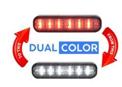 18W DC12V 듀얼 컬러 LED 서페이스 마운트 차량 섬브 경고 차량 조명