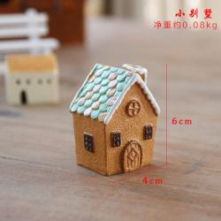 H01 Resina Miniatura Castle House Micro Dollhouse chalé de pedra de recreio para decoração de jardim