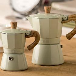 Promotie 3 Kop Koffiezetapparaat van Stovetop van het Aluminium van de Machine van de Espresso van de Pot van Moka van 6 Kop het Italiaanse Draagbare