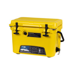 Kuer 20쿼트 플라스틱 폼 상업용 Rotomold 절연 야외 피크닉 사용자 지정 로고 손잡이가 있는 쿨러 박스