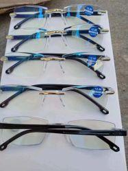 De randloze Lens van de Deklaag van de Glazen van de Lezing van PC van het Blok van de Glazen van de Lezing Blauwe Blauwe