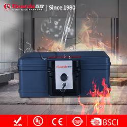 Il classificatore di plastica del documento B5 o A5 con trasporta la casella di sicurezza di protezione del fuoco e di acqua della maniglia