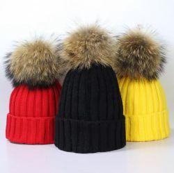 형식 사랑스러운 여자 아기 뜨개질을 하는 모자 온열 장치