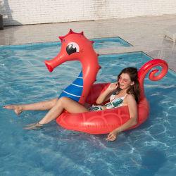 Neues Produkt-aufblasbarer Schwimmen-Ring Unisex-Kurbelgehäuse-Belüftungseahorse-Schwimmen-Ring, zum der Wasser-Shanghai-Pferden-sich hin- und herbewegenden Reihe zu erhöhen