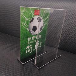 工場製造者のプラスチックパンフレットのホールダーの表示のためのアクリルの印のホールダー