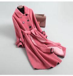 Модный баранины Woolen Coat OuterWear Женская зима 2021 Новый свободный Овечья шерсть шерсть шерсть шерсть Мать женщины′ S толстый теплый пальто Куртка