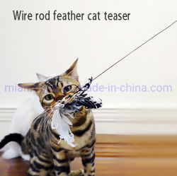 Teathered Juego de pluma y la varita de juguete cat.