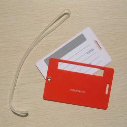 높은 Quality Plastic Promotional Gift 3D Rubber Luggage Label (LT-014)