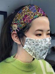 Poliestere di 88% e femmina dello Spandex di 12% tutta l'età con la bella fascia dei capelli stampata tasto