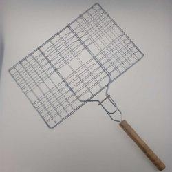 Корзина для жарки барбекю с деревянной ручкой