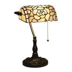 TF-3927 Tiffany 작풍 은행가 책상용 램프 스테인드 글라스 독서 악센트 램프