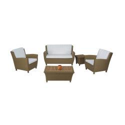 安い価格の庭のソファーの快適な藤のテラスの家具