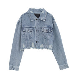 도매가 데님 가을 여성복 여자를 위한 차가운 형식 외투 숙녀 가을 우연한 재킷
