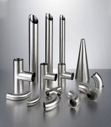 DIN /SMSの衛生ステンレス鋼の食品等級の溶接された締め金で止められた管付属品