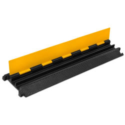 TUV Teste 2 pisos de canais de cabo de borracha rampa com tampa de PVC amarelo